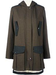 пальто с капюшоном Giamba