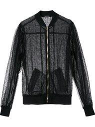 прозрачная куртка-бомбер  Sophie Theallet
