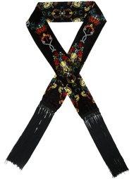 бархатный шарф с узором Roberto Cavalli