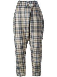 укороченные брюки в клетку Vivienne Westwood Anglomania