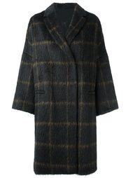 объемное пальто в клетку Brunello Cucinelli