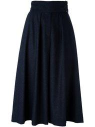 широкие укороченные брюки со складками Cacharel