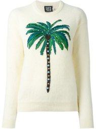свитер с вышивкой пальмы Fausto Puglisi