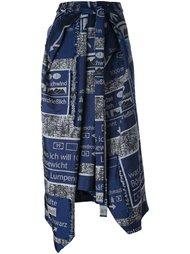 асимметричная юбка Chalayan