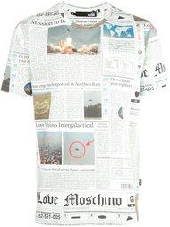 футболка с принтом газеты  Love Moschino