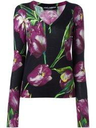 джемпер с тюльпанами Dolce & Gabbana