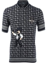 футболка-поло с принтом кактусов Dolce & Gabbana