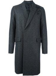 однобортное пальто Emporio Armani