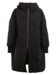 объемное пальто с капюшоном Ziggy Chen