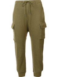 укороченные зауженные брюки R13