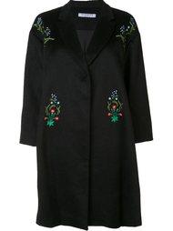 пальто с цветочной вышивкой  Vivetta