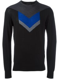 свитер с принтом шеврон  Les Hommes
