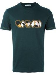 футболка с принтом логотипа   Carven