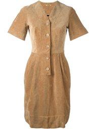 вельветовое приталенное платье Peter Jensen