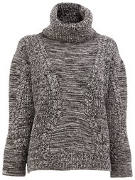 roll neck cable knit jumper Maison Ullens