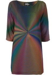 платье с принтом радуги  Jeremy Scott