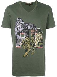 футболка 'Wild Cats' Roberto Cavalli