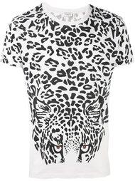 футболка с леопардовым принтом Saint Laurent
