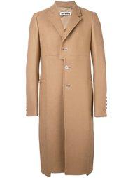 однобортное пальто лоскутного кроя Off-White