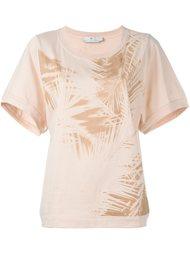 футболка с тропическим принтом Adidas By Stella Mccartney