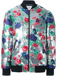куртка бомбер с цветочным узором MSGM