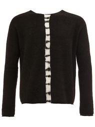 свитер с контрастными полосками   Suzusan