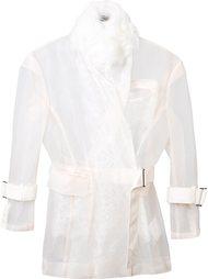прозрачная куртка с поясом Sacai
