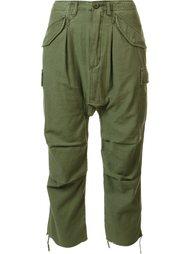 укороченные брюки с заниженным шаговым швом R13