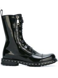 ботинки в стиле милитари  Dolce & Gabbana