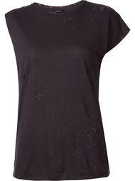 асимметричная рваная футболка R13