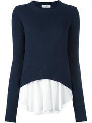 свитер с контрастным подолом Dondup