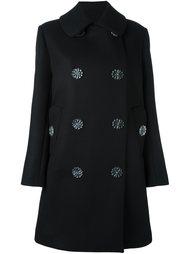 пальто с пуговицами-цветами Simone Rocha