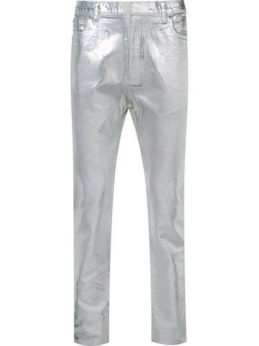 джинсы с металлическим отблеском  Maison Margiela