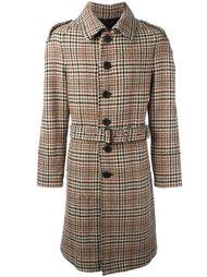 пальто средней длины в клетку Burberry