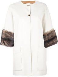 пальто с меховыми манжетами  Agnona
