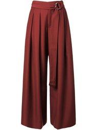 плиссированные брюки палаццо Irene