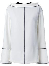рубашка с контрастным швом Irene