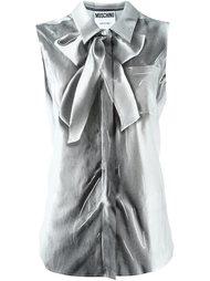рубашка без рукавов с рисунком тромплей Moschino
