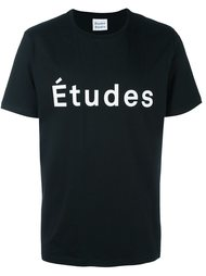футболка с принтом логотипа   Études Studio