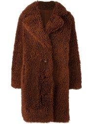 однобортное пальто Yves Salomon