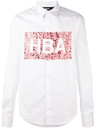 рубашка с принтом логотипа  Hood By Air