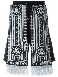 шорты 'Sling Silver' Andrea Crews