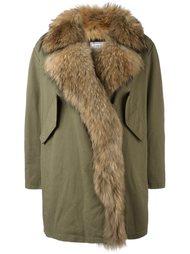 long trim detail coat Forte Couture