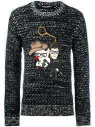 свитер с нашивкой Dolce & Gabbana