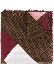 шарф в стиле колор-блок  Fendi