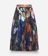 плиссированная юбка с узором Christopher Kane