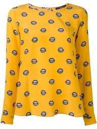 блузка с принтом губ Odeeh