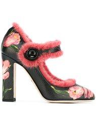 туфли с отделкой мехом норки Dolce & Gabbana