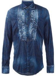 джинсовая рубашка с рваными деталями Dsquared2