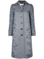 пальто с леопардовым принтом   Salvatore Ferragamo